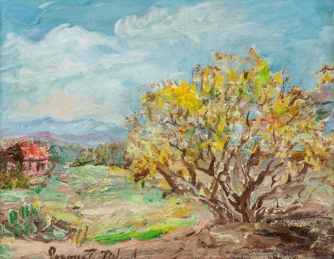 Jeanette Milam Jones (1903-1989), Red Farm House, oil