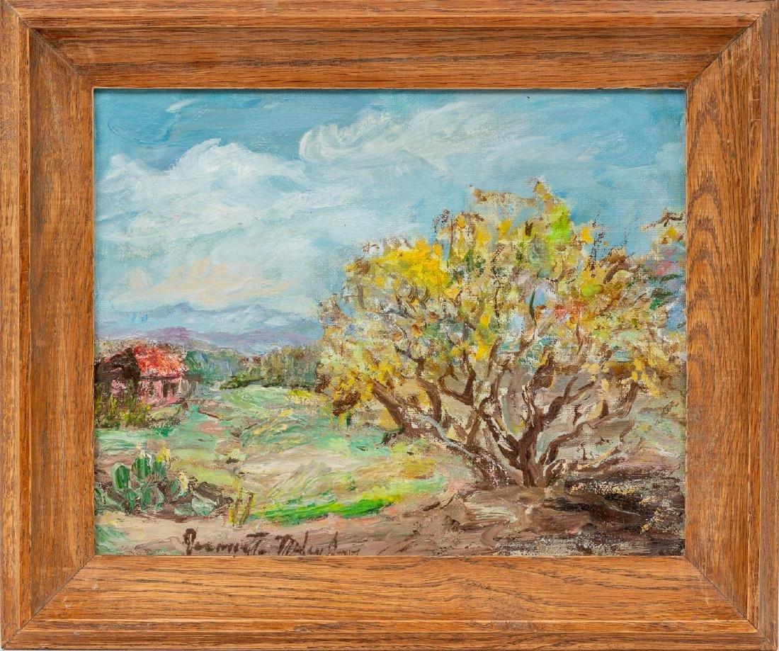 Jeanette Milam Jones (1903-1989), Red Farm House, oil - 2
