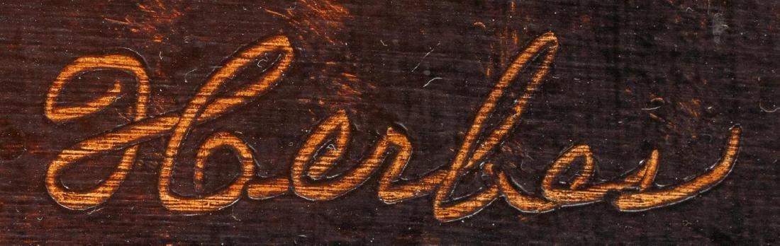 "Ed Herbes (1916-1990), ""Loring Peaches"", 1986, oil - 3"