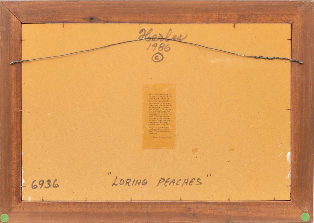 "Ed Herbes (1916-1990), ""Loring Peaches"", 1986, oil - 4"