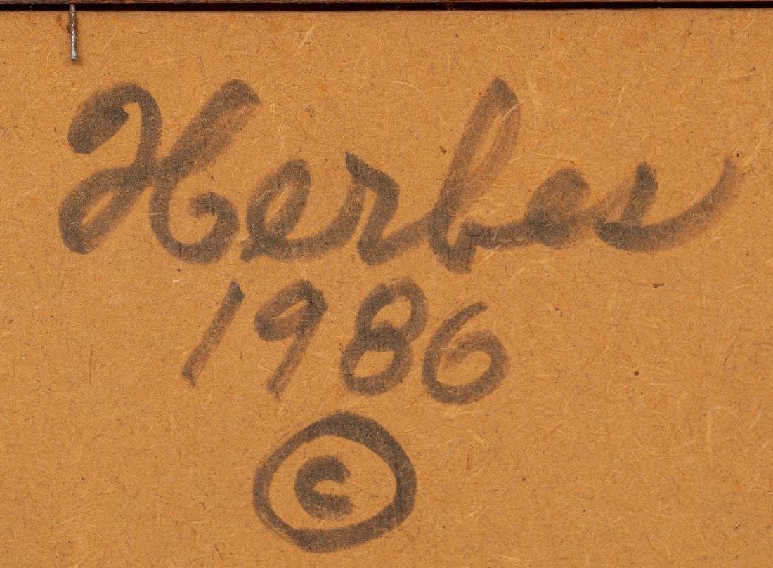 "Ed Herbes (1916-1990), ""Loring Peaches"", 1986, oil - 6"