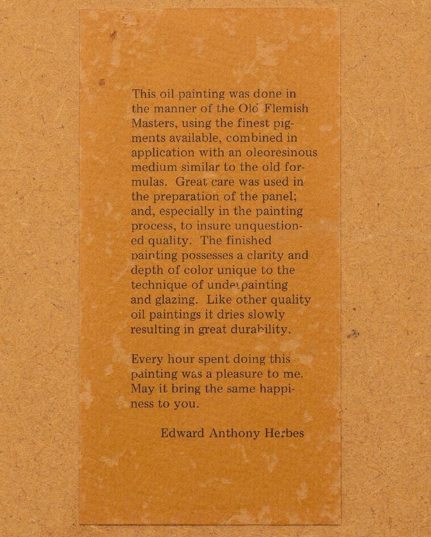 "Ed Herbes (1916-1990), ""Loring Peaches"", 1986, oil - 8"