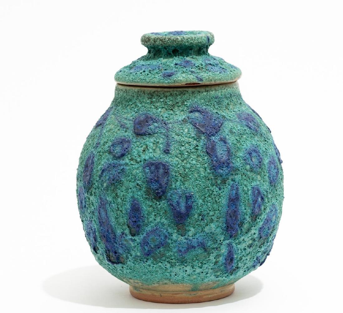 Harding Black (1912-2004), Turquoise Spotted Ginger Jar