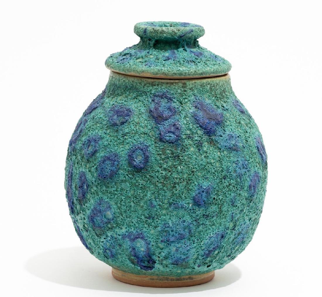 Harding Black (1912-2004), Turquoise Spotted Ginger Jar - 2