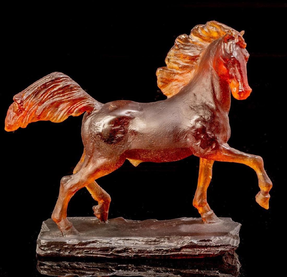 Daum French Art Glass Pate de Verre Horse Limited
