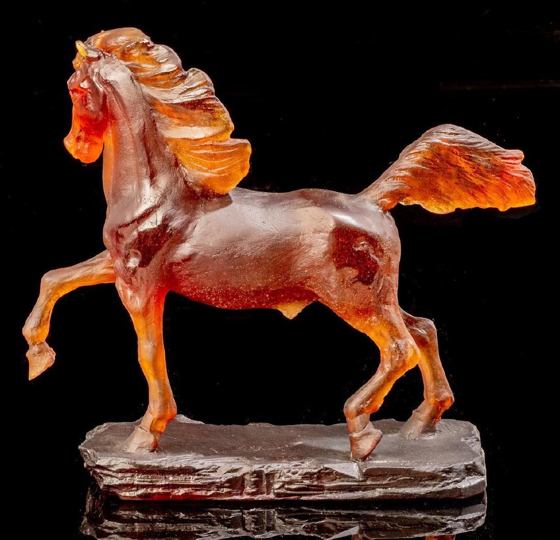 Daum French Art Glass Pate de Verre Horse Limited - 3