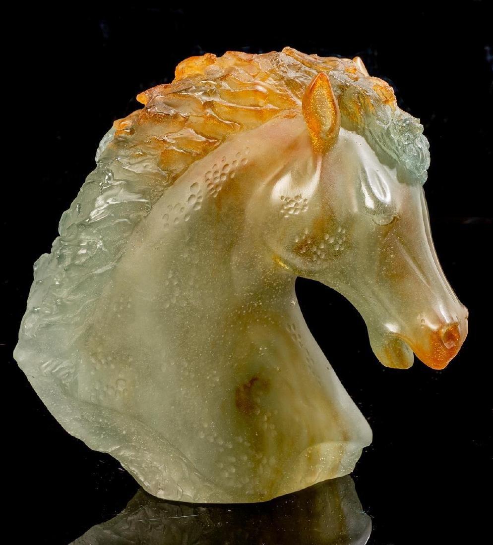 "Daum French Art Glass Pate de Verre ""Andalusian"" Horse"