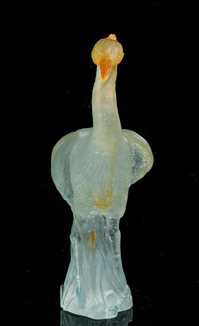 "Daum ""Great Heron"" Pate de Vere Glass Figure - 2"