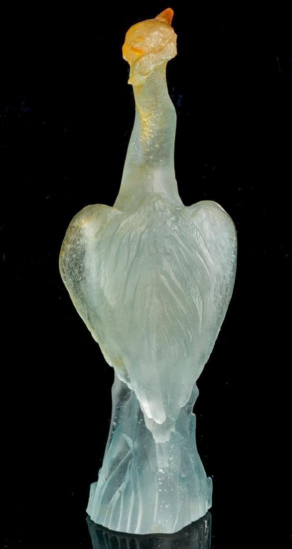 "Daum ""Great Heron"" Pate de Vere Glass Figure - 4"