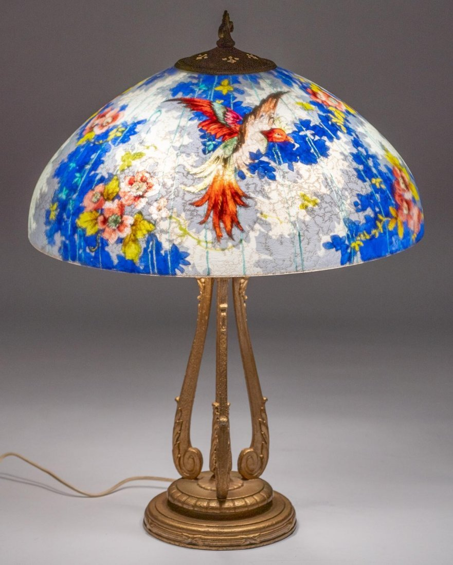 "Handel ""Birds of Paradise"" Lamp"