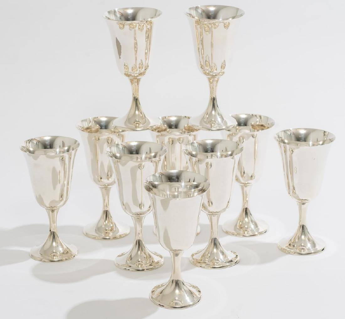 Set 10 Sterling Goblets by Gorham