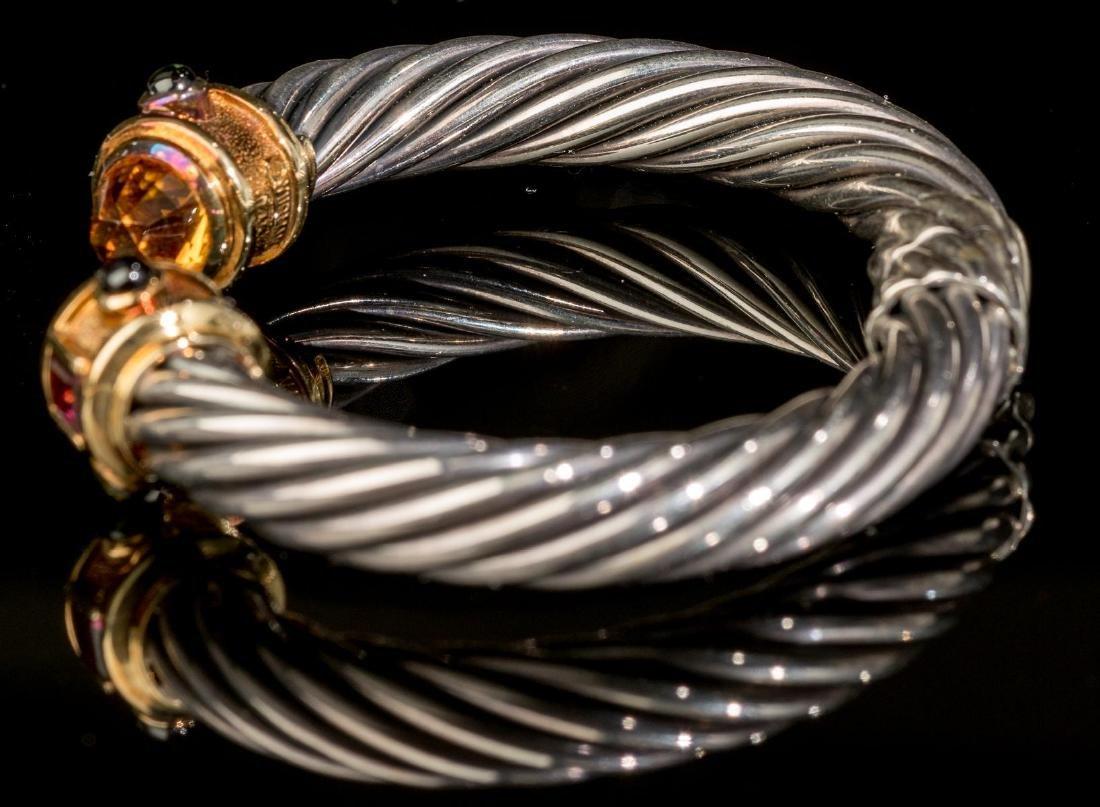 "David Yurman, ""Renaissance"", Gold/Sterling Cuff - 2"