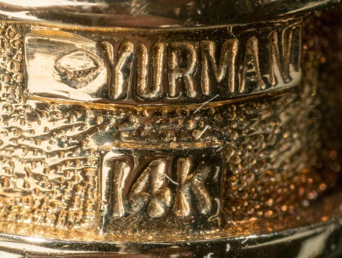 "David Yurman, ""Renaissance"", Gold/Sterling Cuff - 6"