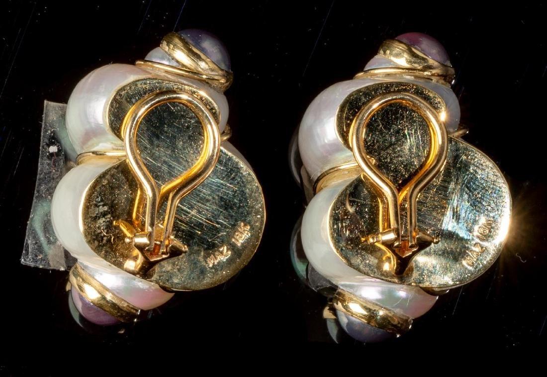 Turbo Shell & Pearl MAZ Earrings - 2