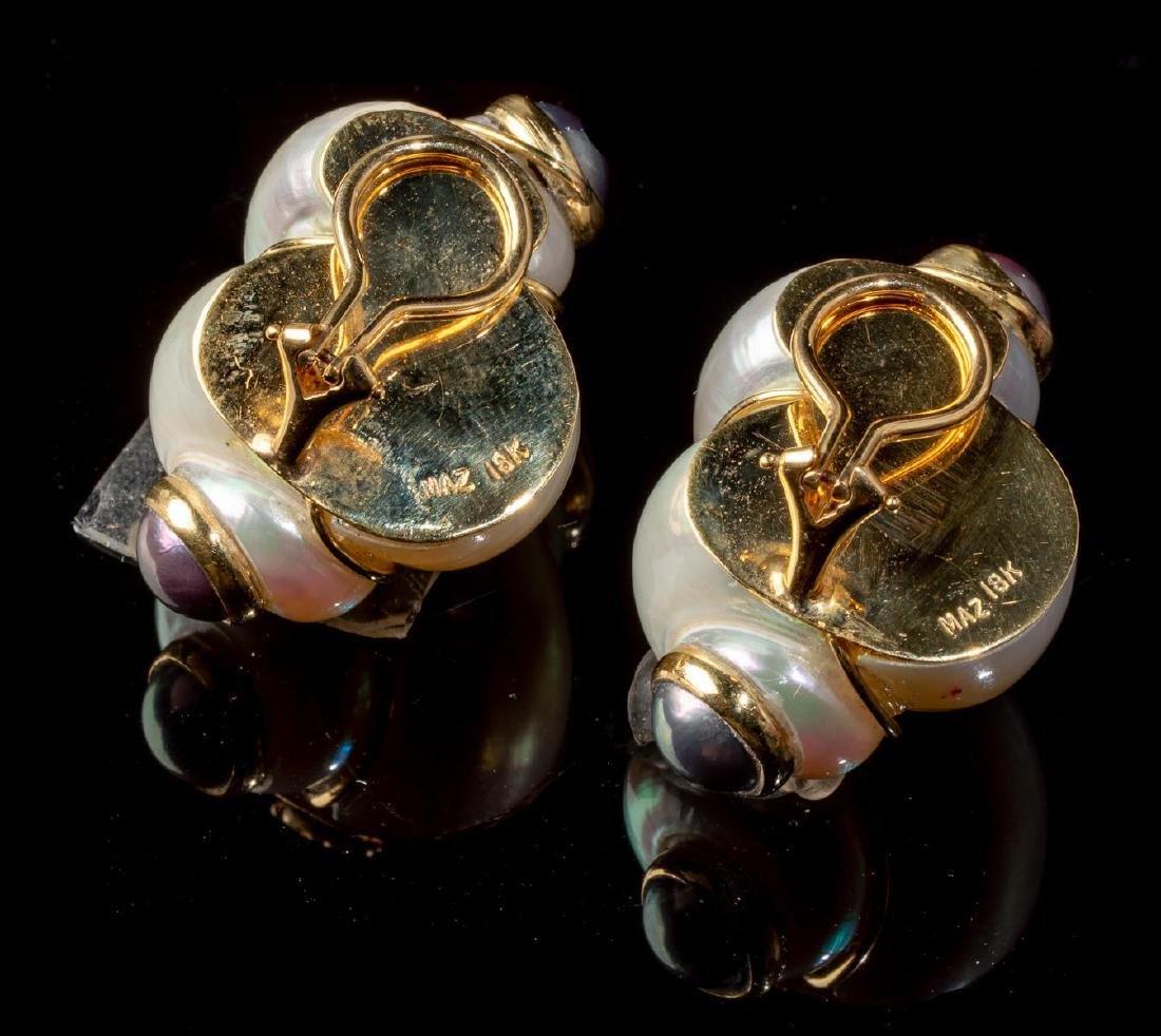 Turbo Shell & Pearl MAZ Earrings - 3