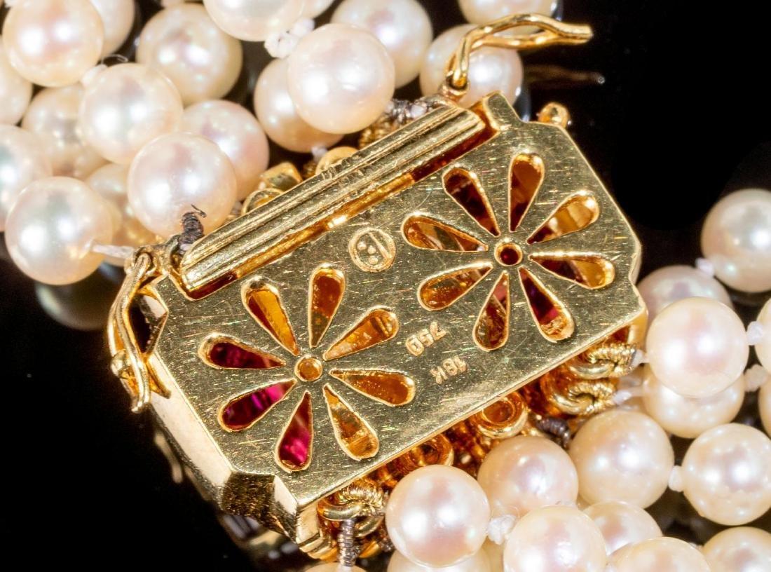 Torsade Pearl, Diamond & Ruby Necklace - 3