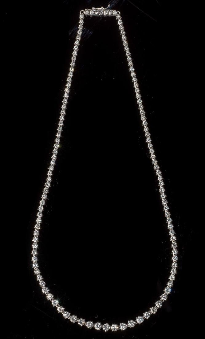 Diamond 10 Carat & Platinum Riviera Necklace