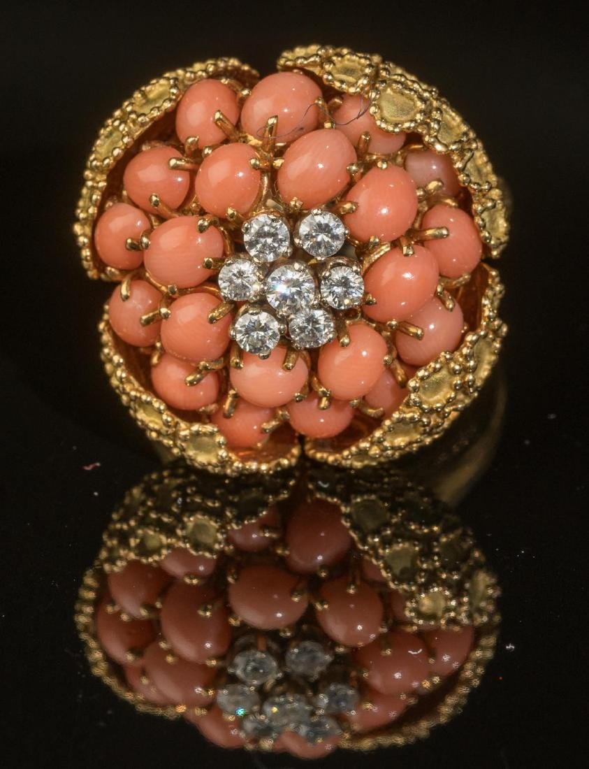 Tivol (France, 20th century), Diamond, Coral & Gold