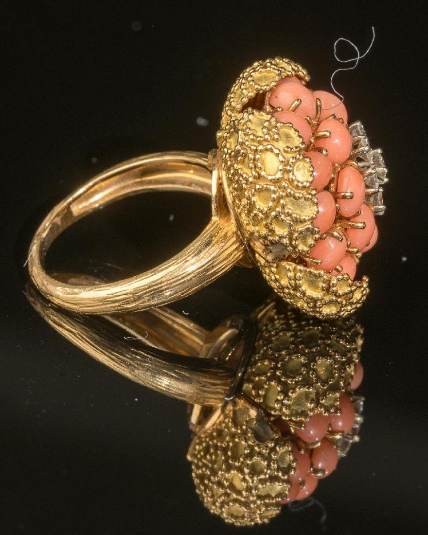 Tivol (France, 20th century), Diamond, Coral & Gold - 4