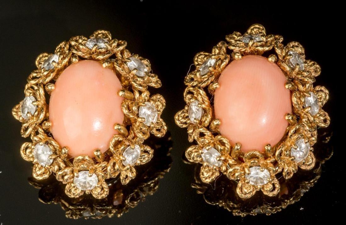 Italian (20th century), Diamond, Coral, 18k Gold