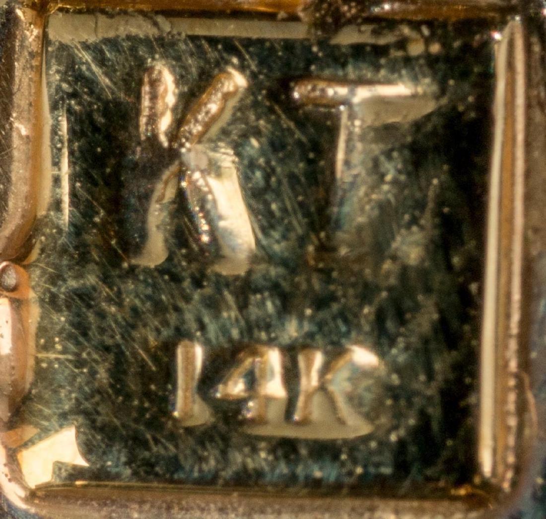 Diamond, Amethyst & 14k Gold Pendant - 3