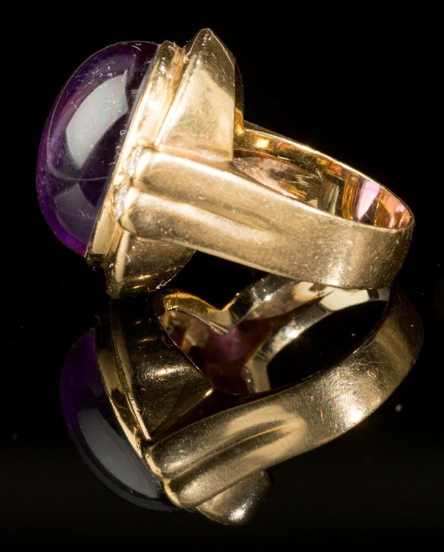 Purple Amethyst & 18k Gold Ring - 2