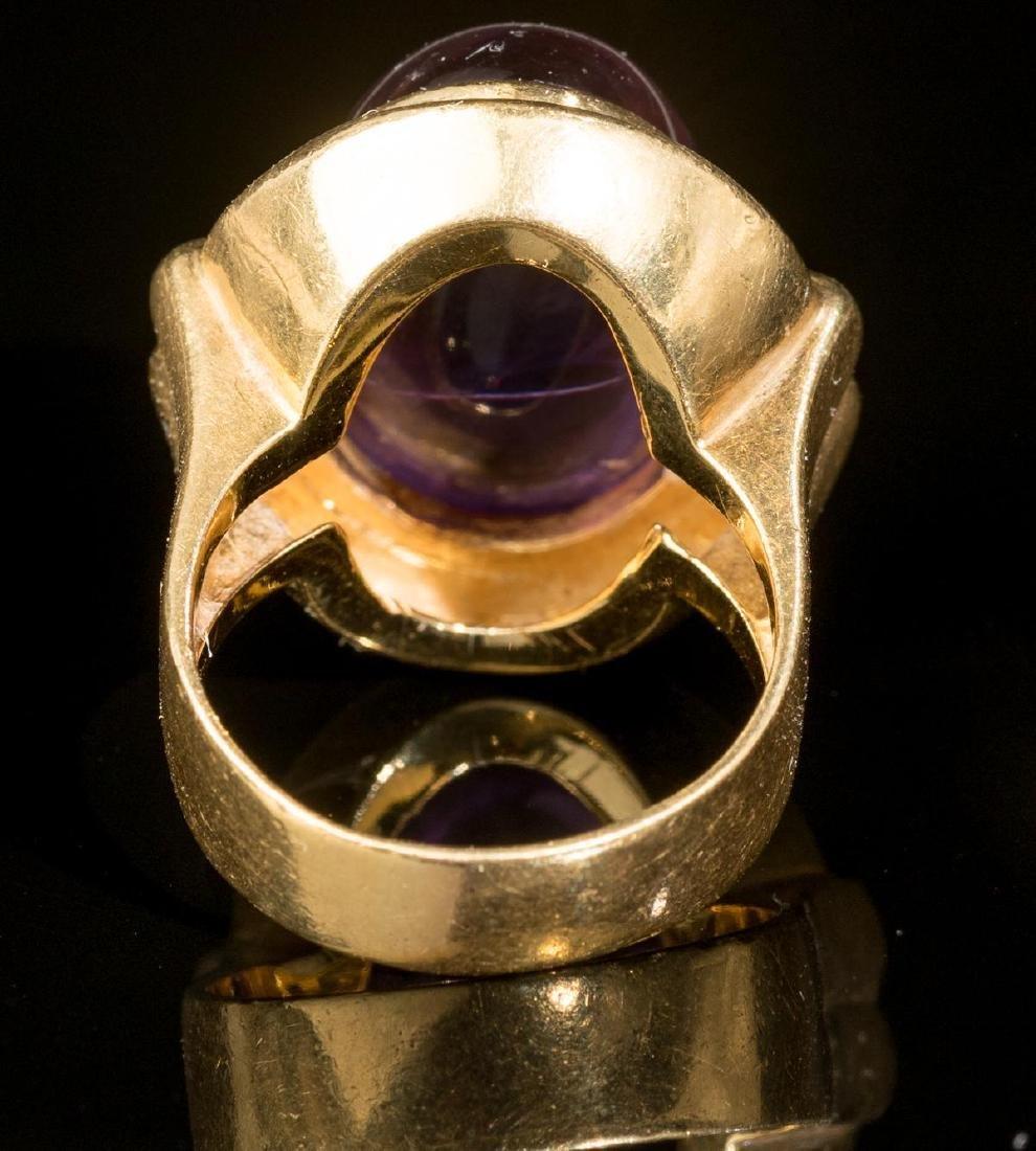 Purple Amethyst & 18k Gold Ring - 3