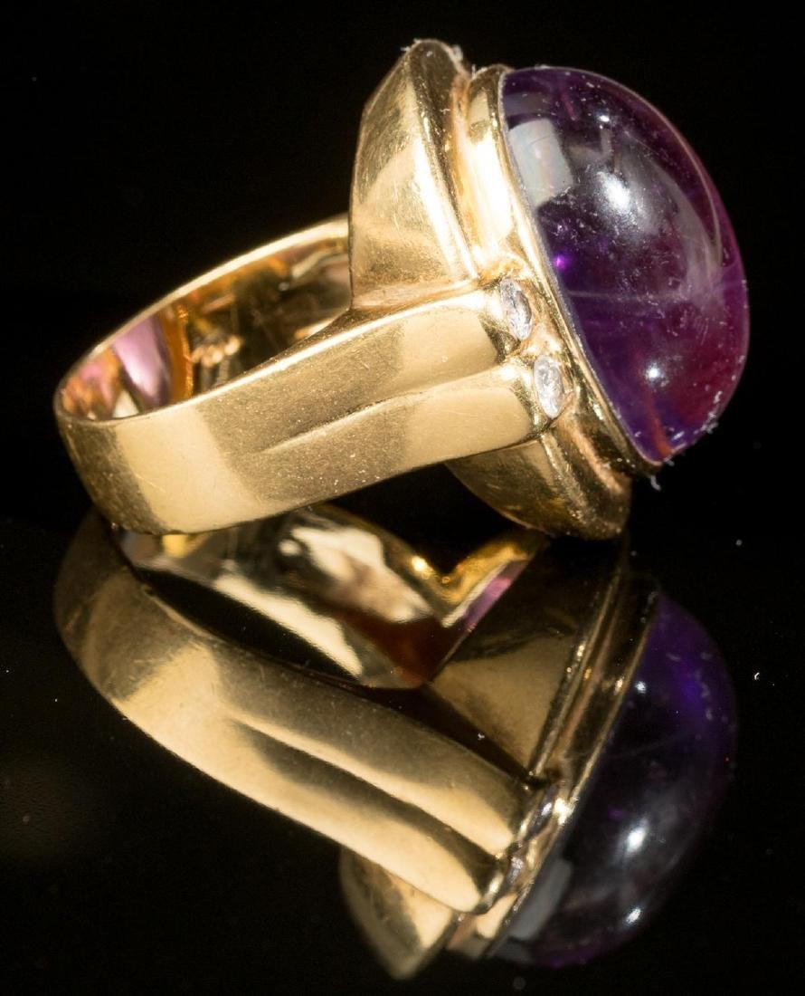 Purple Amethyst & 18k Gold Ring - 4