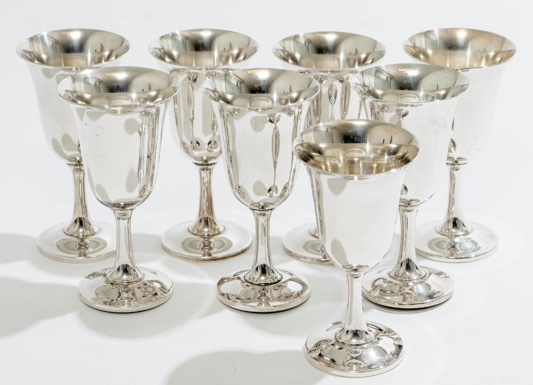 Set of 8 Sterling Goblets by Wallace