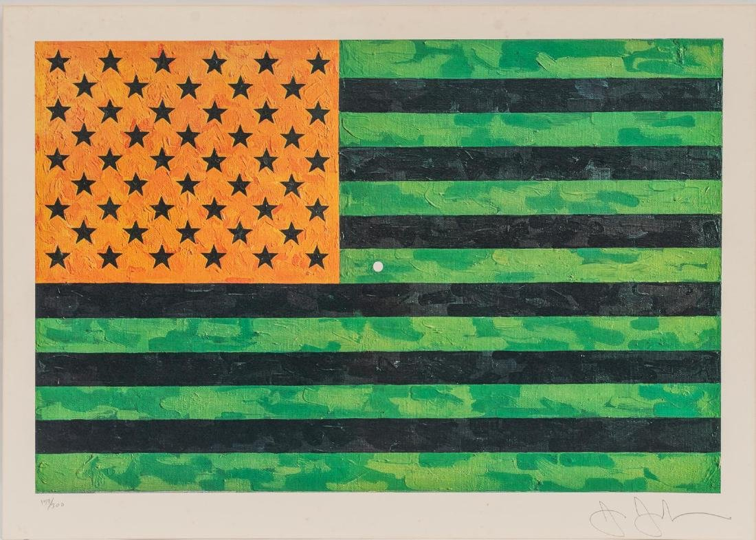 "Jasper Johns, ""Flag (Moratorium)"", 1969, 159/300"