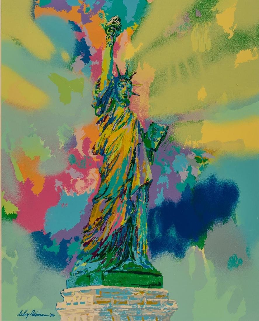 "Leroy Neiman (New York, 1921-2012), ""Lady Liberty"" 1986"