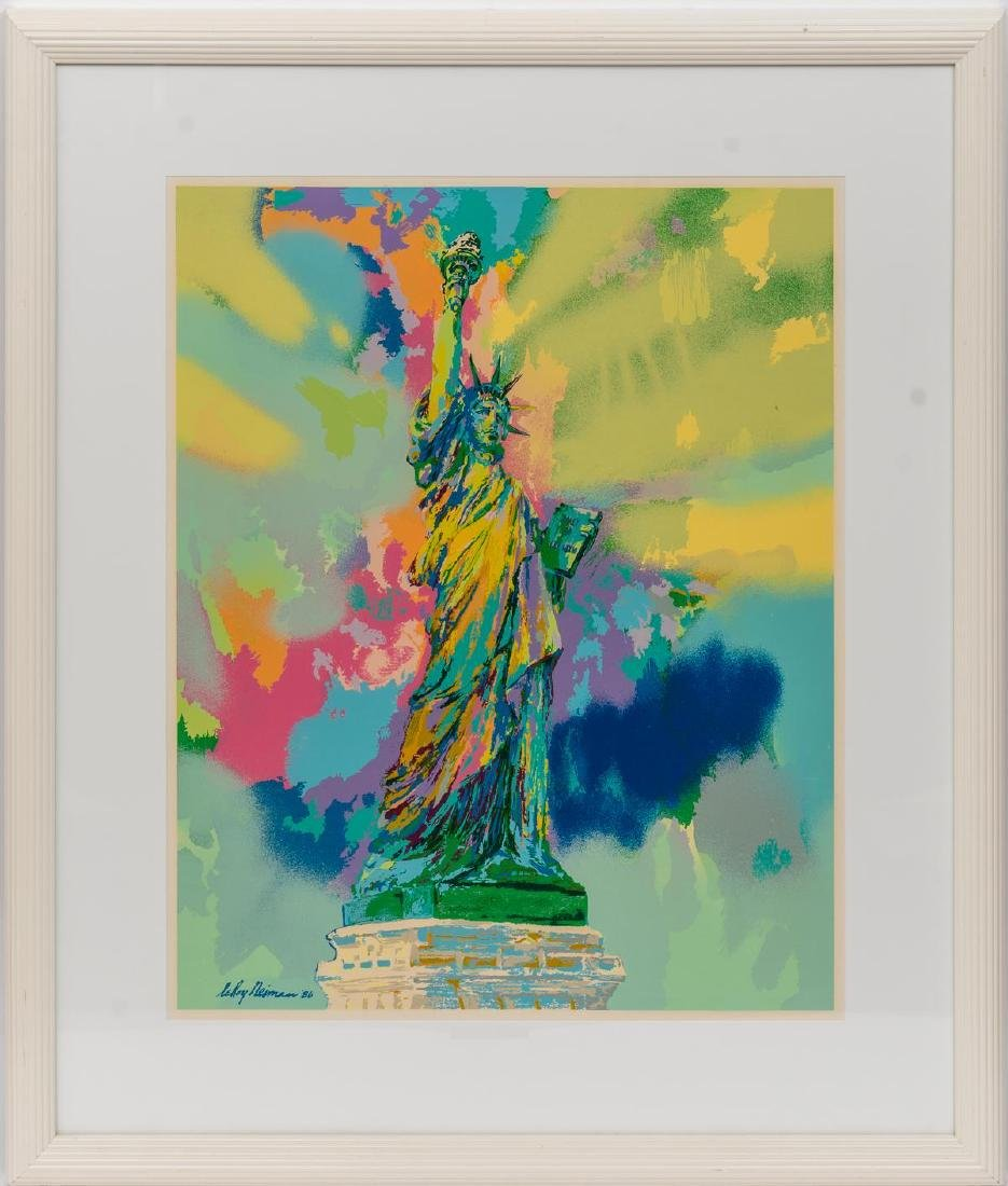"Leroy Neiman (New York, 1921-2012), ""Lady Liberty"" 1986 - 2"