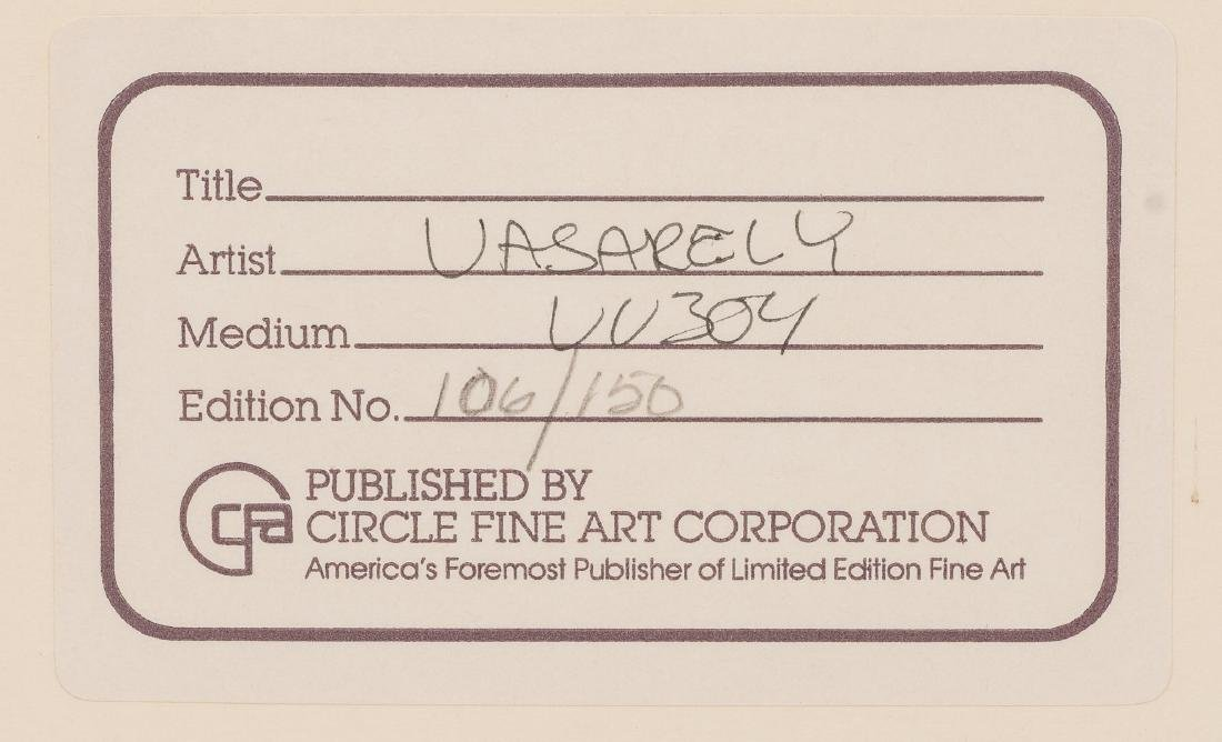 "Victor Vasarely (1906-1997), ""Vega Kocka"", Serigraph on - 5"