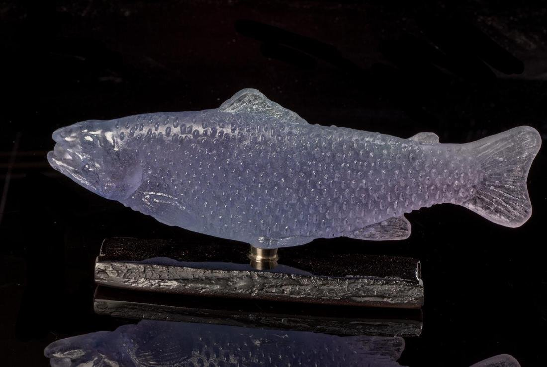 Daum French Art Pate de Verre Salmon - 2
