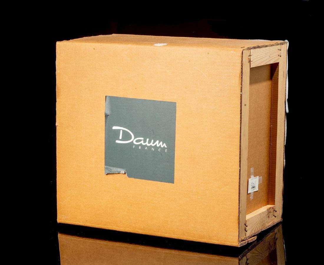 Daum French Art Glass Amber Elephant - 7