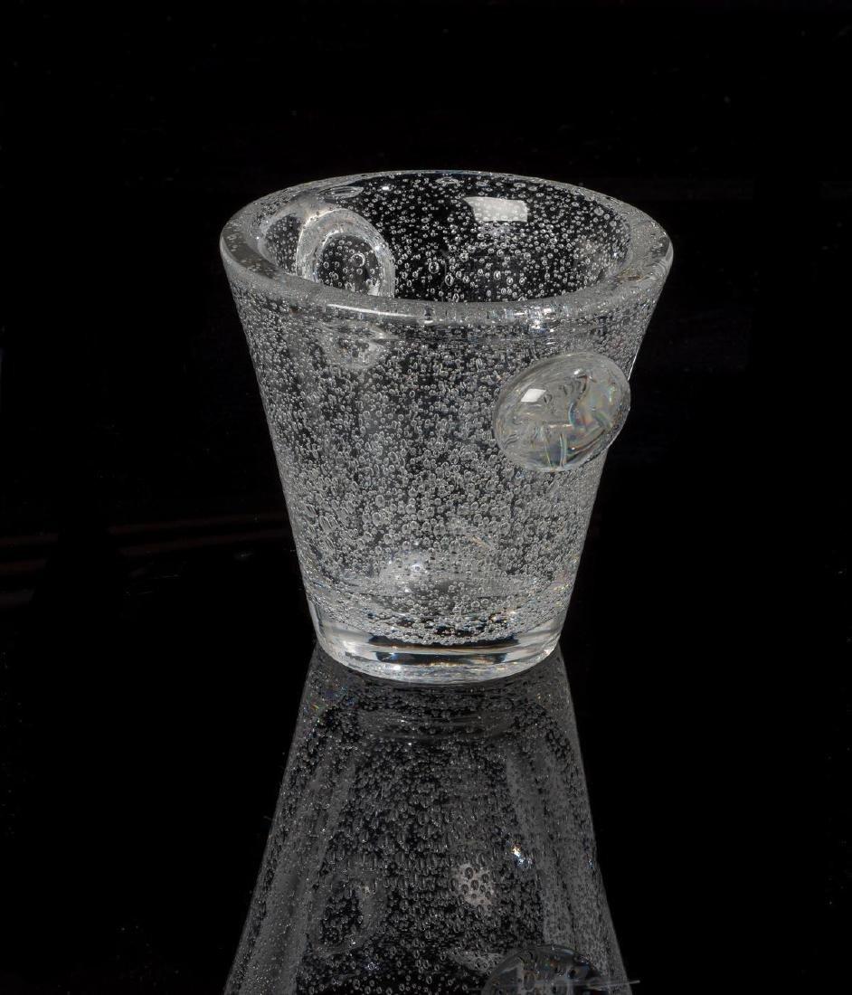 Daum Glass Studio Blown Bubble Glass Vase - 3