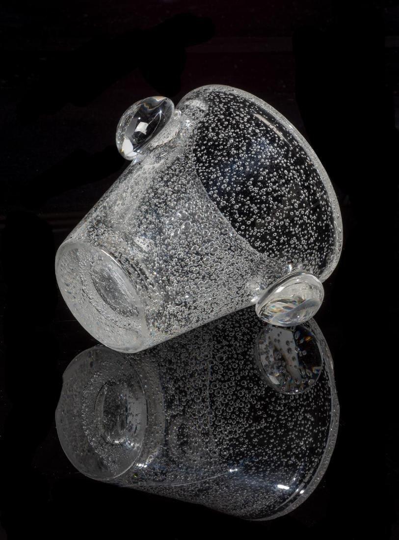Daum Glass Studio Blown Bubble Glass Vase - 4