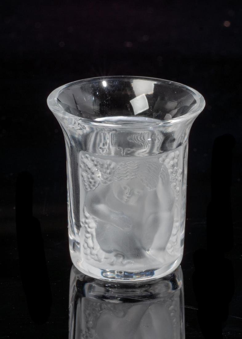"Lalique French Art Glass ""Enfants"" Shot Glasses - 2"