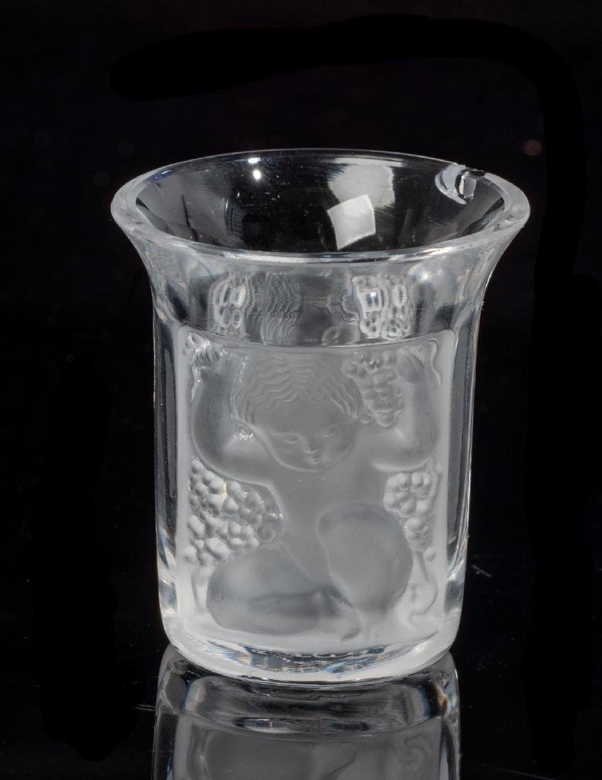 "Lalique French Art Glass ""Enfants"" Shot Glasses - 3"