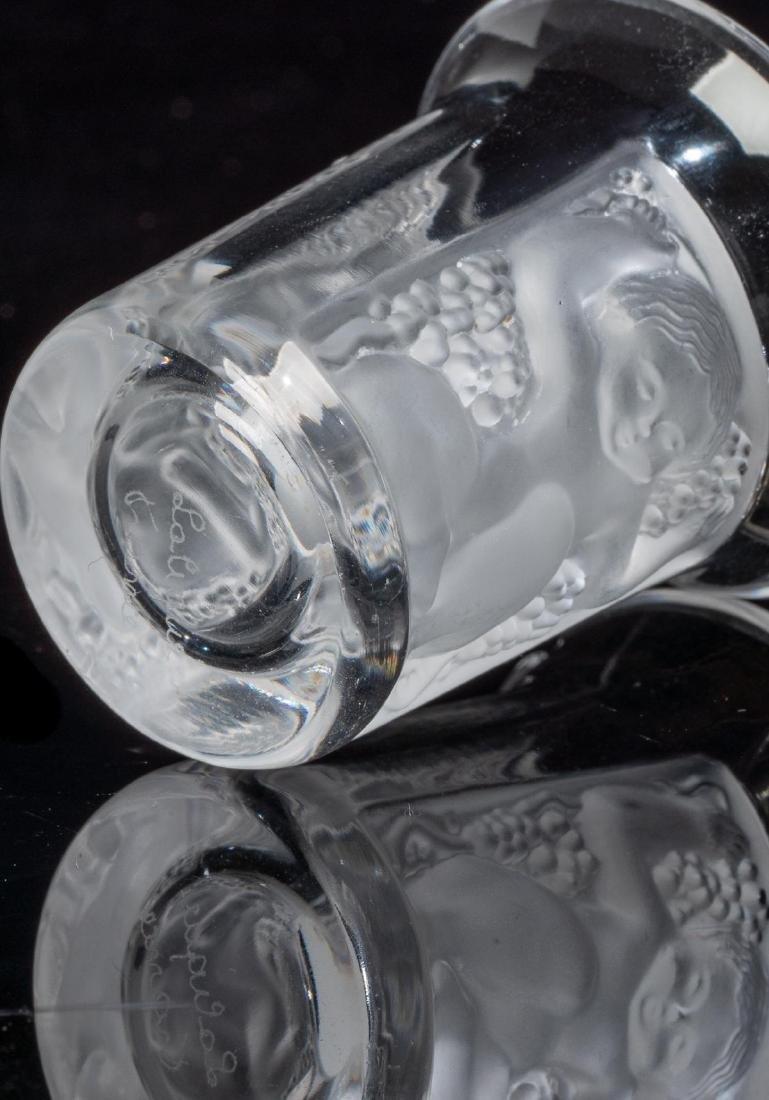 "Lalique French Art Glass ""Enfants"" Shot Glasses - 4"