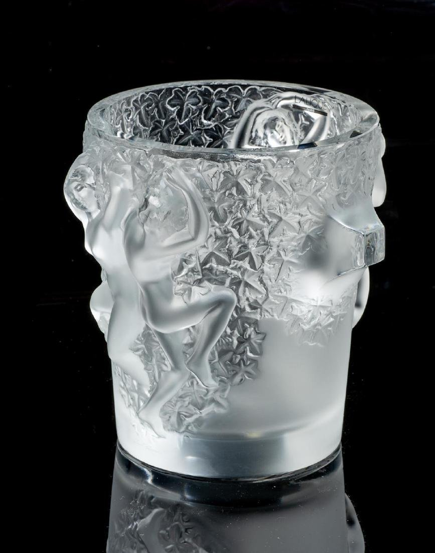 "Lalique French Art Glass ""Ganymede"" Champagne Cooler - 3"