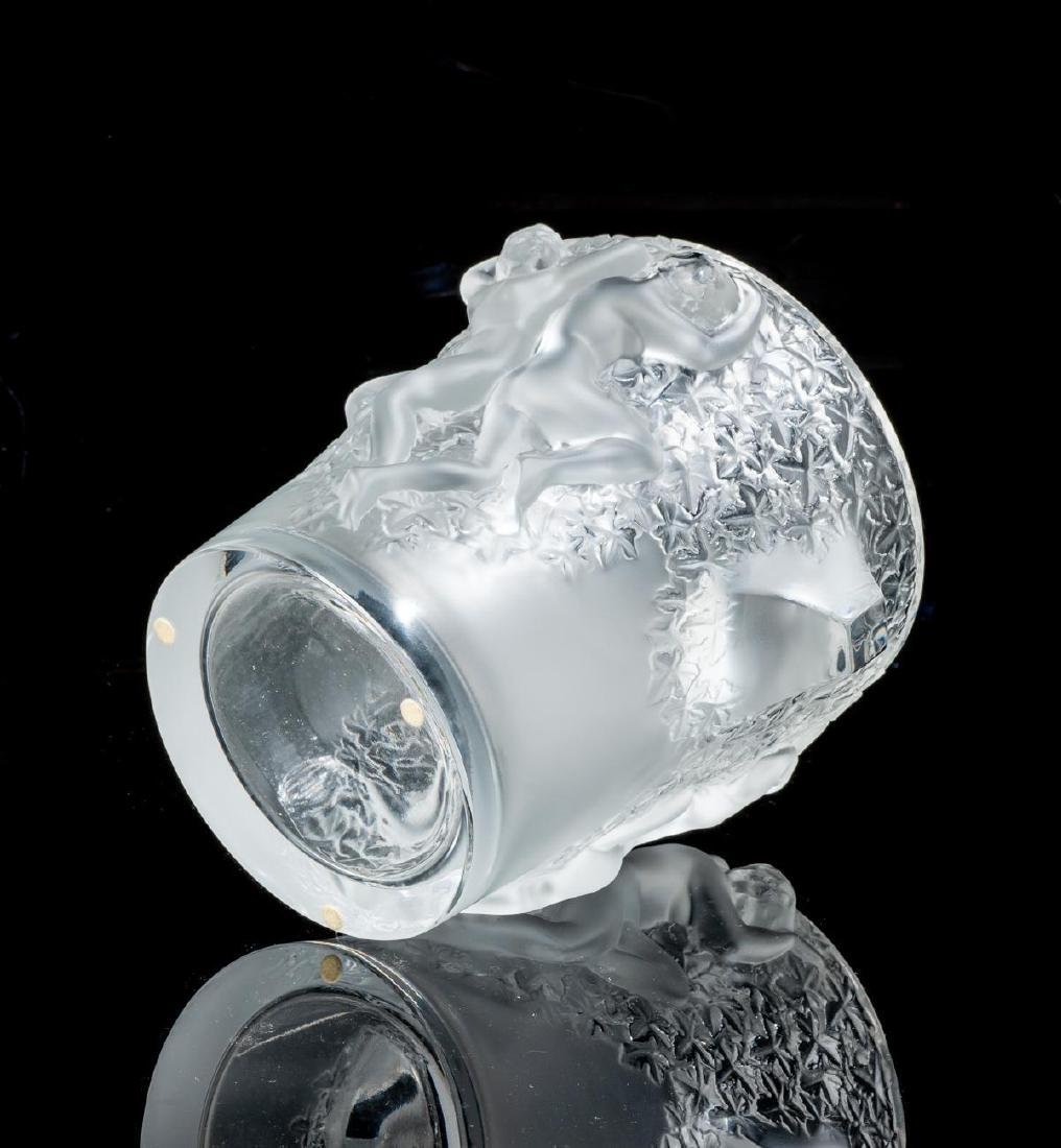 "Lalique French Art Glass ""Ganymede"" Champagne Cooler - 5"