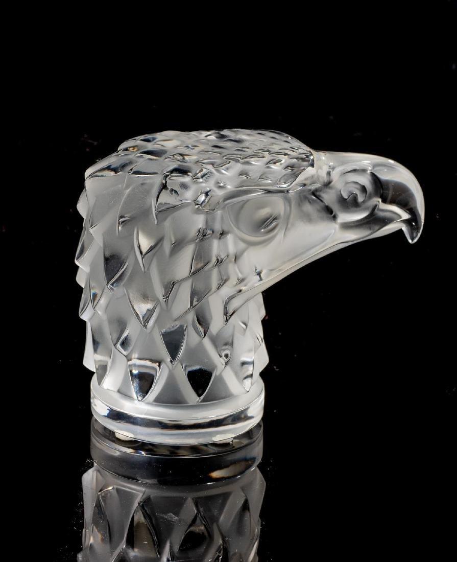 """Lalique French Art Glass """"Tete D'Aigle"""" Eagle Sculpture"""