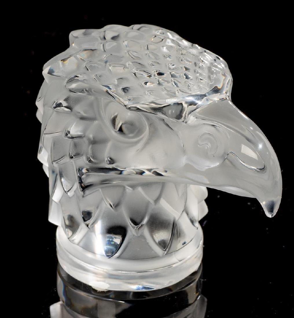 """Lalique French Art Glass """"Tete D'Aigle"""" Eagle Sculpture - 2"""