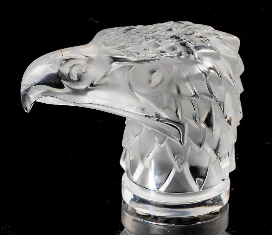 """Lalique French Art Glass """"Tete D'Aigle"""" Eagle Sculpture - 3"""