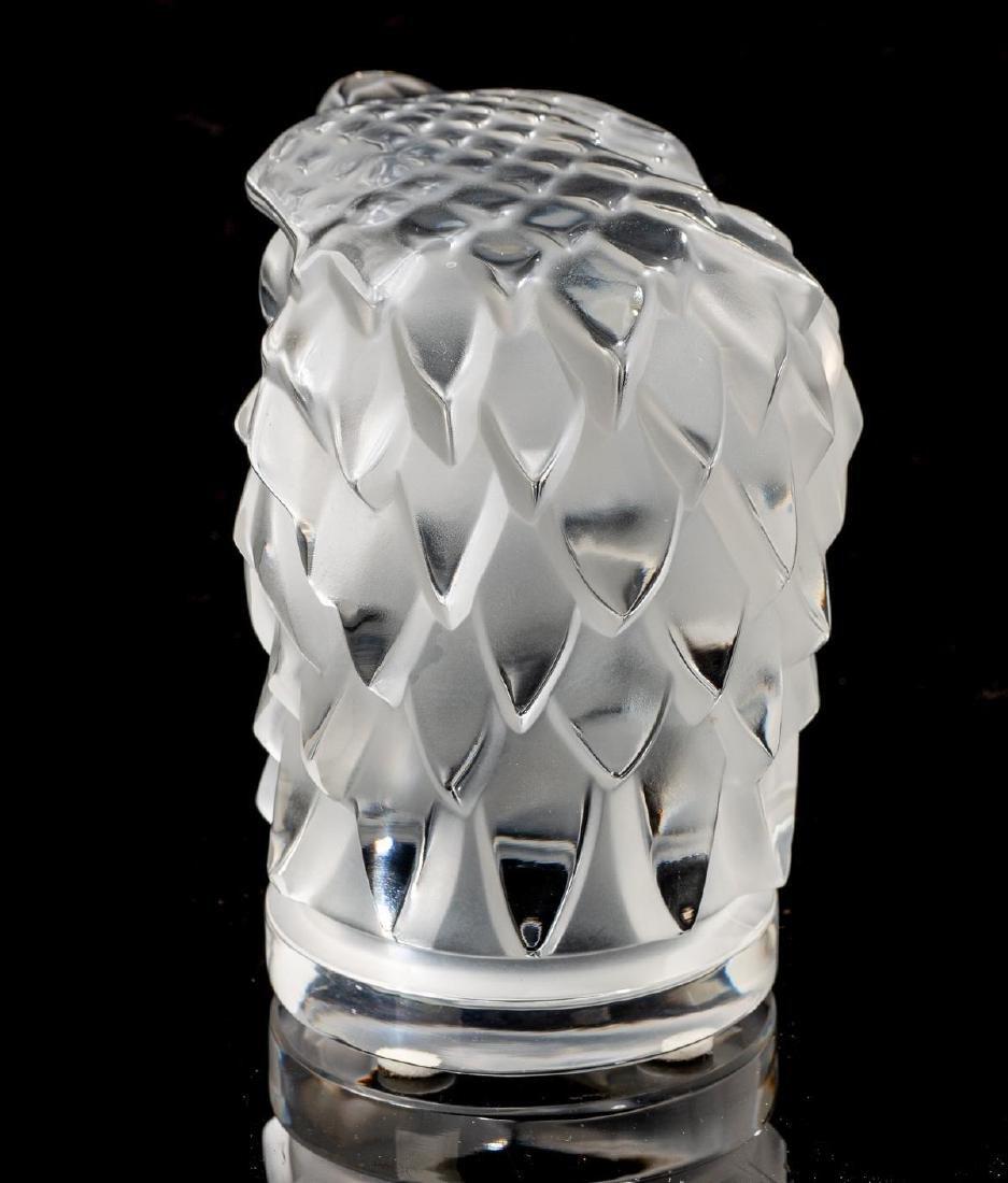 """Lalique French Art Glass """"Tete D'Aigle"""" Eagle Sculpture - 4"""