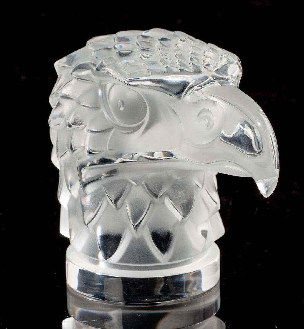 "Lalique French Art Glass ""Tete D'Aigle"" Eagle Sculpture - 2"