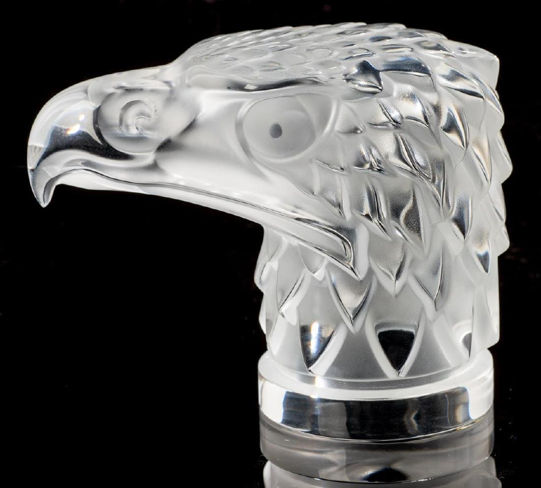 "Lalique French Art Glass ""Tete D'Aigle"" Eagle Sculpture - 3"