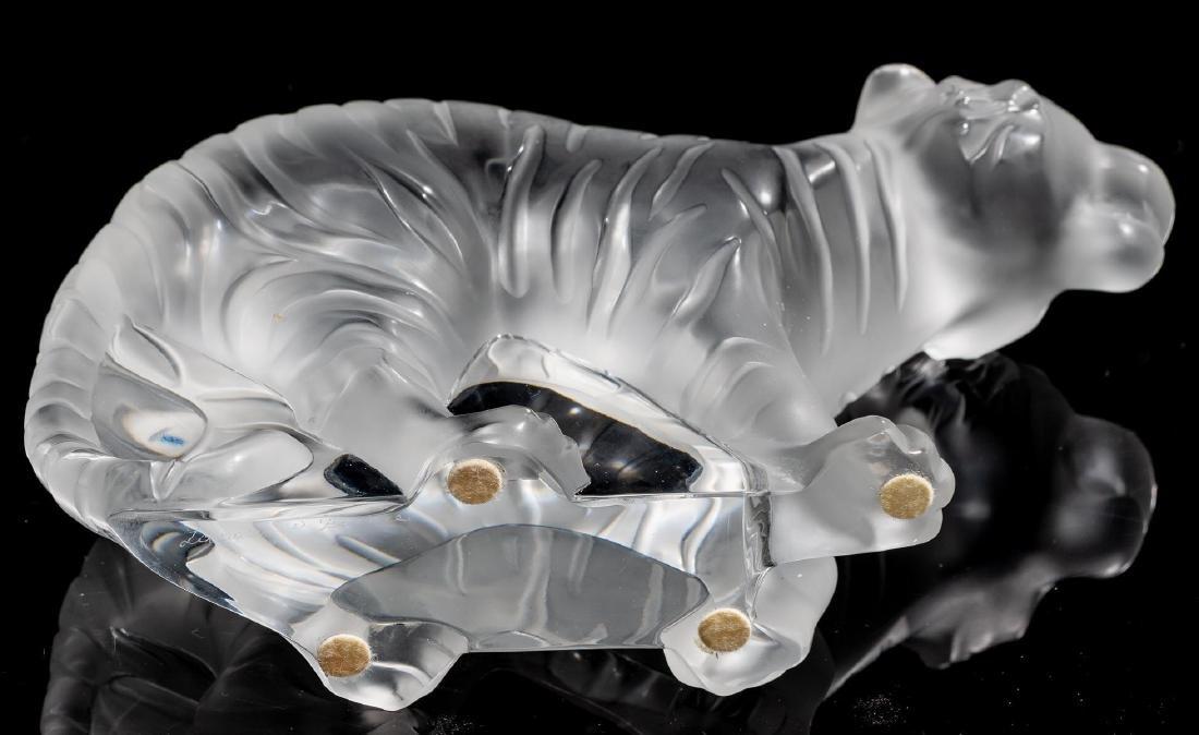 "Lalique French Art Glass ""Bengale"" Tiger Sculpture - 4"