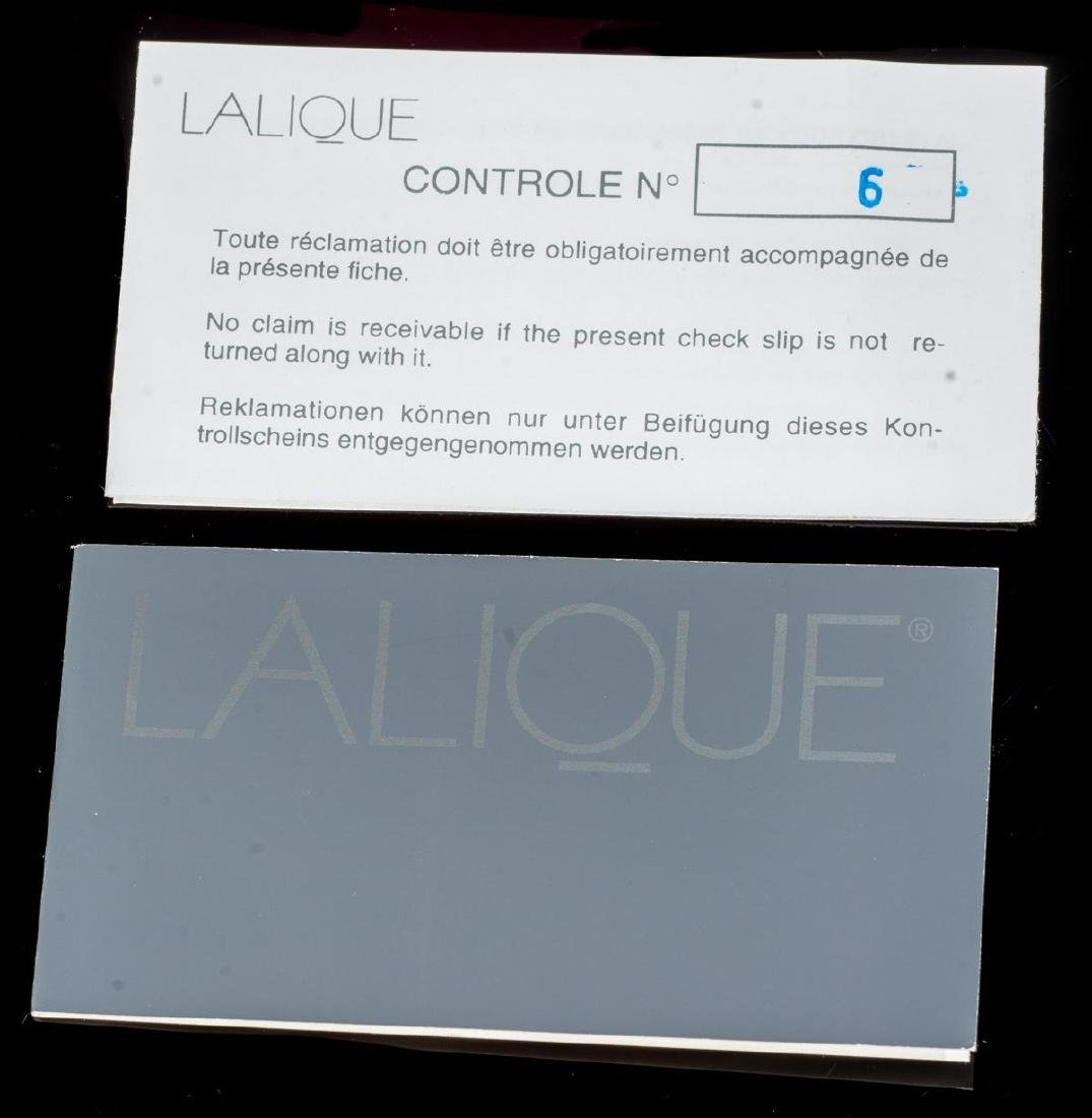 "Lalique French Art Glass ""Jaguar Rajah"" Crystal - 7"